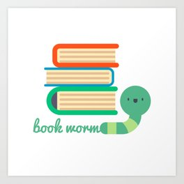 Book worm - Best gift for book lover kids Art Print