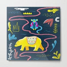 Monkey & Bear Metal Print