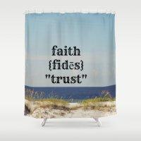 faith Shower Curtains featuring Faith by KimberosePhotography