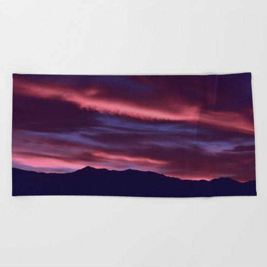 SW Serenity Rose Sunrise Beach Towel