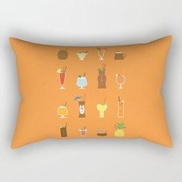Tiki Drinks Rectangular Pillow
