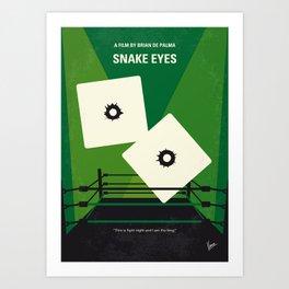 No898 My Snake Eyes minimal movie poster Art Print