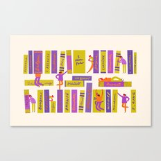 Writers and readers 1 Canvas Print
