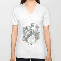soul V-neck T-shirts featuring soul.. by Krn Rmirz