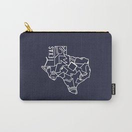Texas Strong (Dark Blue) Carry-All Pouch