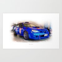 subaru Art Prints featuring Cars: Subaru Liberty STI by Urbex :: Siam