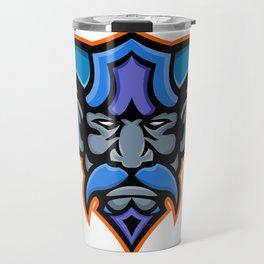 Hades Greek God Head Mascot Travel Mug