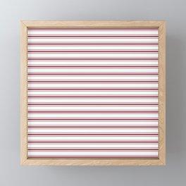 Dark Red Pear Mattress Ticking Wide Striped Pattern - Fall Fashion 2018 Framed Mini Art Print
