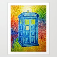 Inconspicuous Blue Police Box (Not a Tardis) Art Print