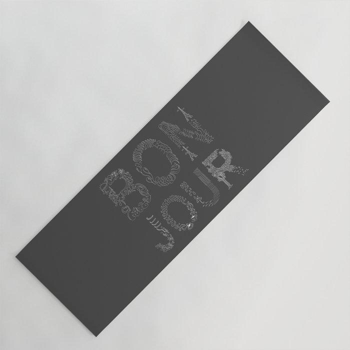 Bonjour Yoga Mat By Marimauro