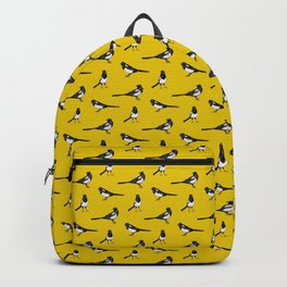 Magpies on Yellow - Bird Pattern Backpack
