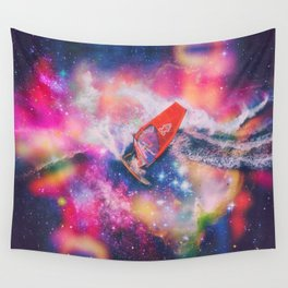 Surfing the intergalactic waves Wall Tapestry