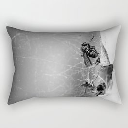 Flies Trapped In a Spider´s Web Rectangular Pillow
