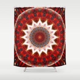 Mandal power lotus Shower Curtain