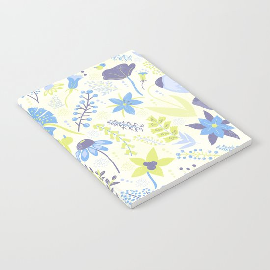 Blue and Purple Wildflowers Notebook