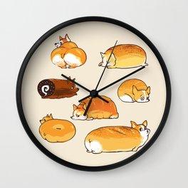 Bread Corgis Wall Clock