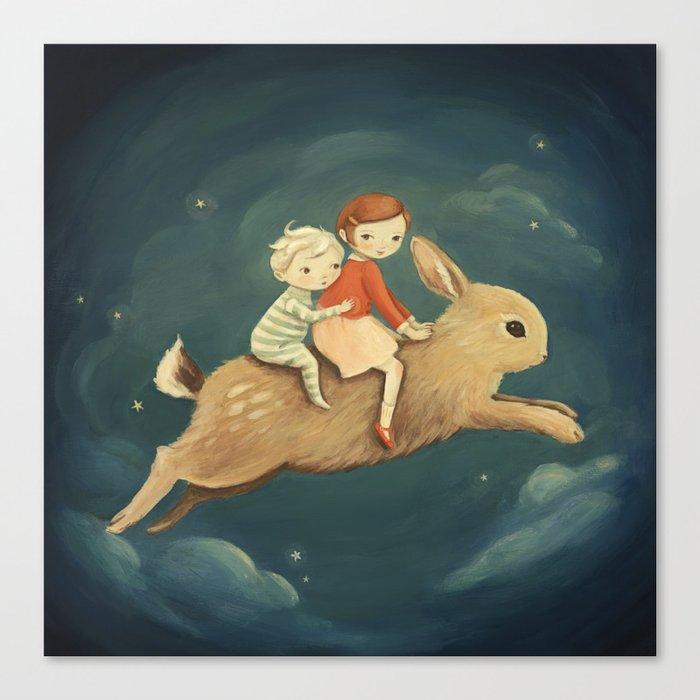 Bunny Kids by Emily Winfield Martin Leinwanddruck
