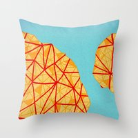 detroit Throw Pillows featuring - detroit - by Magdalla Del Fresto