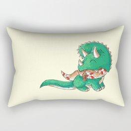 Tree Trimming Triceratops Rectangular Pillow
