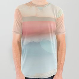 Mint Moon Beach All Over Graphic Tee