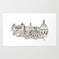 rome Art Prints featuring Rome by Ursula Rodgers
