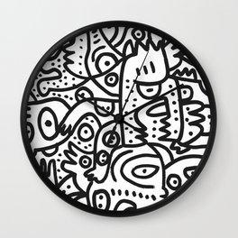 Black and White Graffiti Street art Ink Marker  Wall Clock