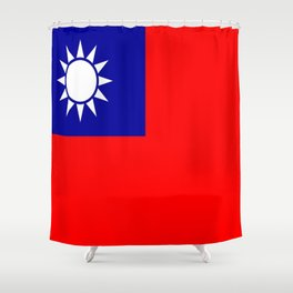 flag of taiwan- asia,china,Zhōnghuá Mínguó,Taiwanese,  mandarin,taipei,Kaohsiung,Taichung,Formosa Shower Curtain