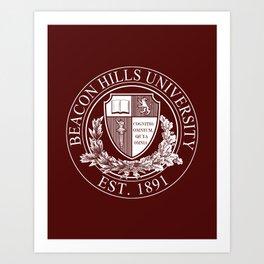 Beacon Hills University Art Print