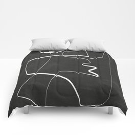 Abstract line art 6/2 Comforters