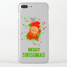 Merry Swishmas Clear iPhone Case