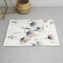 Florals in dust purple and blush pink Rug