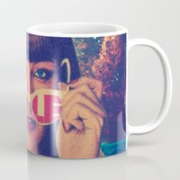 sale Mugs featuring Sale! by Serra Kiziltas