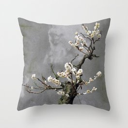 Blooming  bonsai Throw Pillow