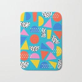 Airhead - memphis retro throwback minimal geometric colorful pattern 80s style 1980's Bath Mat