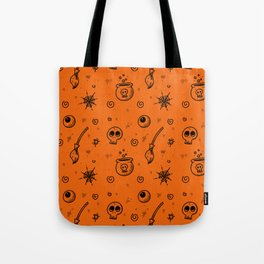 Halloween symbols seamless pattern Tote Bag