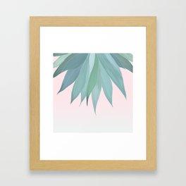 Delicate Agave Fringe Illustration Framed Art Print