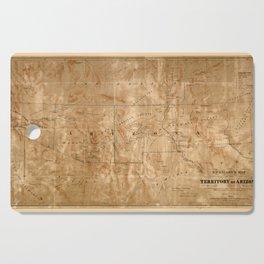 Map Of Arizona 1860 Cutting Board