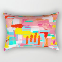 Abstract Expressionism Colorful Painting Modern Contemporary - Those Crucial Three Words Rectangular Pillow