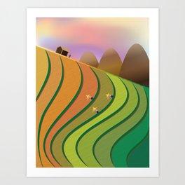 Terrace Fields Art Print