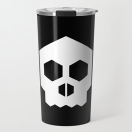 hex geometric halloween skull Travel Mug