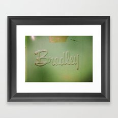 Bradley Framed Art Print