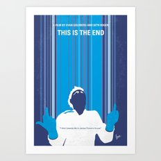 No220 My This is the end minimal movie poster Art Print