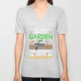 Just Want To Work In My Garden Unisex V-Neck