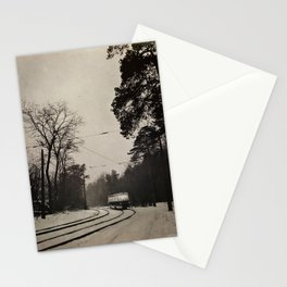 forest tram Stationery Cards