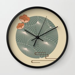 japanese icon and logo template. Wall Clock