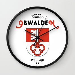 Canton of Obwalden Wall Clock