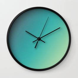 Faience - Gradients are the new Colors Wall Clock