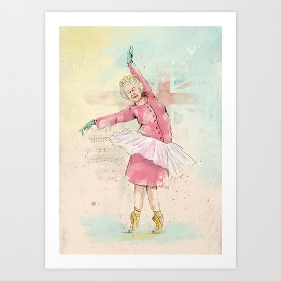 Dancing queen Art Print