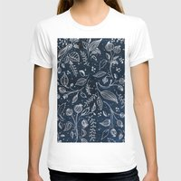 metallic T-shirts featuring Metallic Floral by Yaz Raja Designs