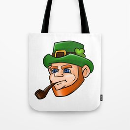 Leprechaun Face Smoking Pipe Tote Bag